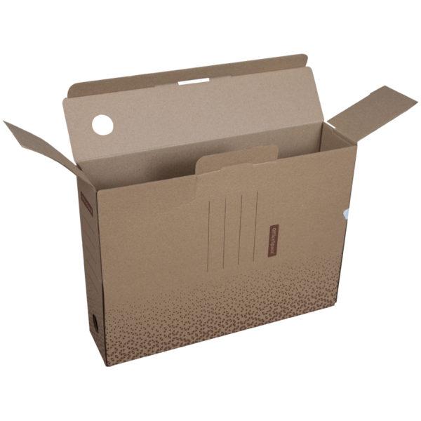 "Короб архивный с клапаном OfficeSpace ""Standard"" плотный, микрогофрокартон,  75мм, бурый, до 700л."