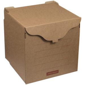 Короб архивный OfficeSpace, 33*31*34см, для регистраторов, накопителей, фронтальная загрузка,липучка