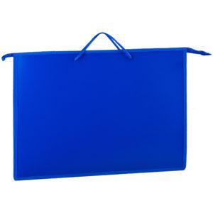 Папка для чертежей и рисунков А3 ArtSpace, синий, пластик, на молнии