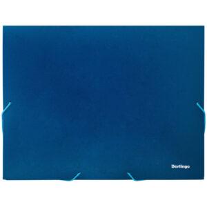 Папка-короб на резинке Berlingo А4, 30мм, 700мкм, синяя