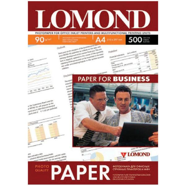 Бумага А4 для стр. принтеров Lomond,  90г/м2 (500л) мат.одн.