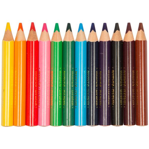 """Карандаши цветные Мульти-Пульти """"Енот на лугу"""", 12цв., утолщ., трехгран., укорочен., заточен.,картон"""