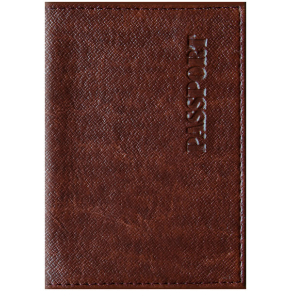 """Обложка для паспорта OfficeSpace """"Бизнес"""" кожзам, коричневый"""