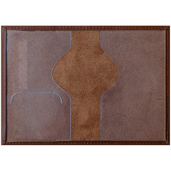 """Обложка для паспорта OfficeSpace """"Элегант"""" кожа, коньяк"""