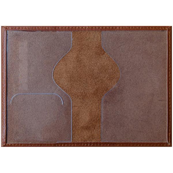"""Обложка для паспорта OfficeSpace """"Элегант"""" кожа, светло-коричневый"""
