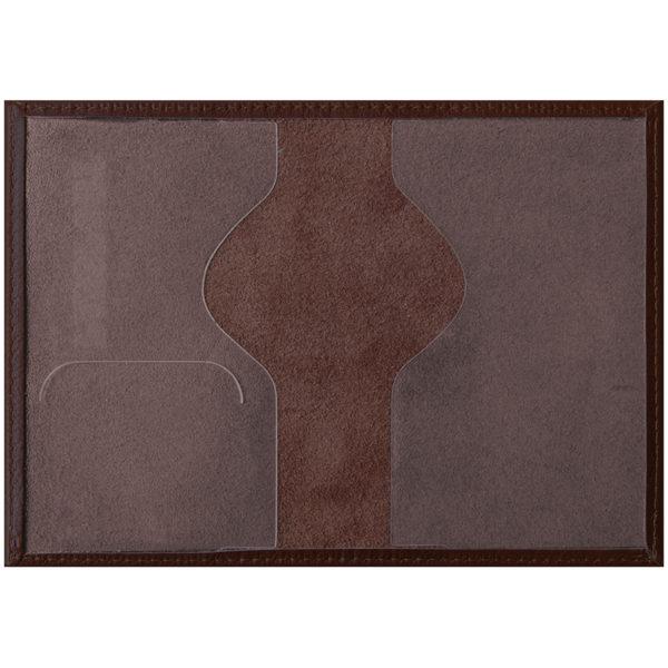 """Обложка для паспорта OfficeSpace """"Питон"""" кожа, коричневый"""