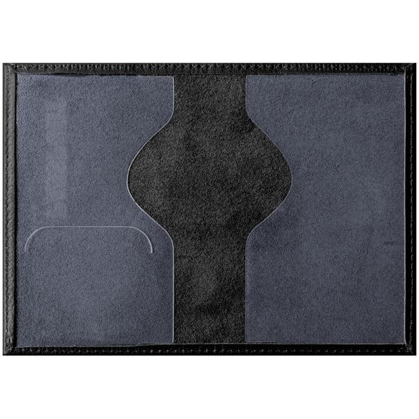 """Обложка для паспорта OfficeSpace """"Промо"""" кожа, черный"""