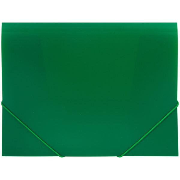 Папка на резинке OfficeSpace А4, 500мкм, зеленая