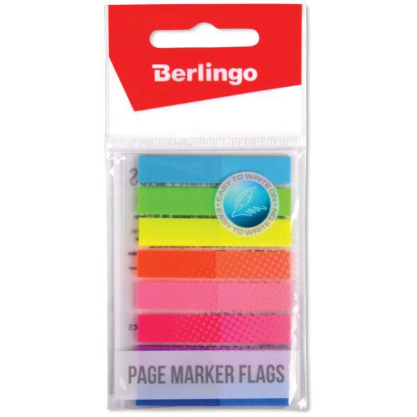 Флажки-закладки Berlingo 45*8мм, 20л*8 неоновых цветов, европодвес