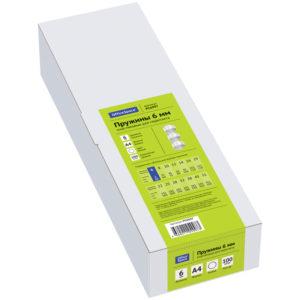 Пружины пластик D=06мм OfficeSpace, белый, 100шт.