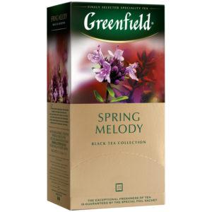 "Чай Greenfield ""Spring Melody"", черный с ароматом мяты, чабреца, 25 фольг. пакетиков по 2г"
