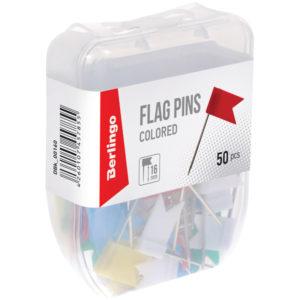 Кнопки силовые/флажки Berlingo, 50шт., пласт. упак., европодвес