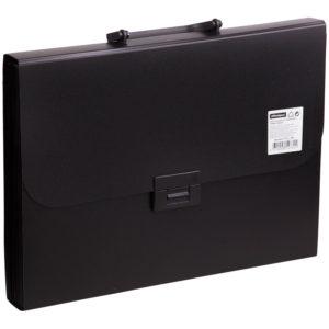 Папка-портфель 13 отделений OfficeSpace, A4, 330*235*40мм, 700мкм, черный