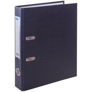 Папка-регистратор OfficeSpace, 50мм, бумвинил, с карманом на корешке, черная