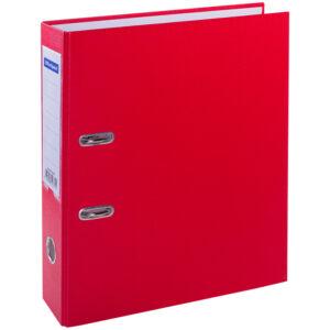 Папка-регистратор OfficeSpace, 70мм, бумвинил, с карманом на корешке, красная