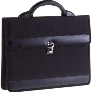 """Портфель OfficeSpace """"Pelso"""" ткань, черный, 2 отделения, метал. замок"""