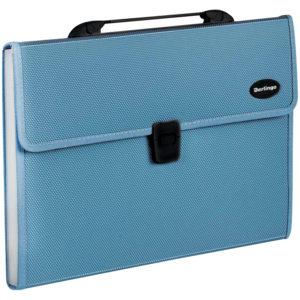 """Папка-портфель 13 отделений Berlingo """"Standard"""", A4, 330*240*40мм, 1000мкм, синяя"""