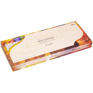 "Краски масляные Гамма ""Студия"", 10 цветов, 18мл/туба, картон"