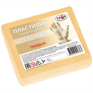 """Пластилин скульптурный Гамма """"Студия"""", телесный, твердый, 500г"""
