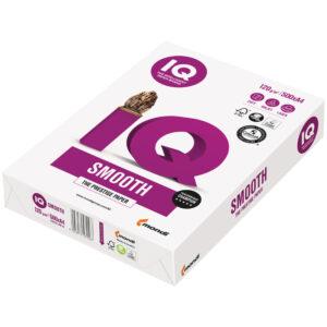 """Бумага IQ """"Smooth"""", А4, 120г/м2, 500л., 170%"""