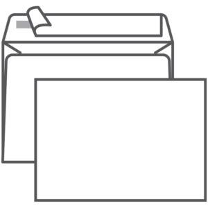 Конверт C6, Ряжская печатная фабрика, 114*162мм, б/подсказа, б/окна, отр. лента