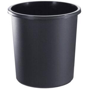 Корзина для бумаг Стамм, 18л, цельная, черная