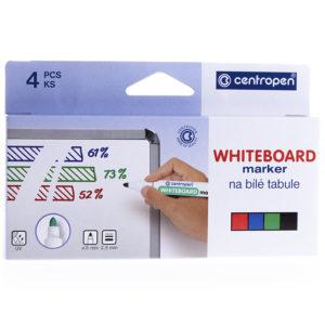 """Набор маркеров для белых досок Centropen """"8559"""" 4цв., пулевидный, 2,5мм, картон. уп., европодвес"""