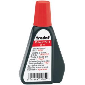 Штемпельная краска Trodat, 28мл, красная