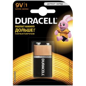 Батарейка Duracell Basic MN1604 (6LR61) 9V Крона, алкалиновая, 1BL