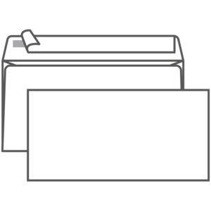 Конверт E65, Ряжская печатная фабрика, 110*220мм, б/подсказа, б/окна, отр. лента