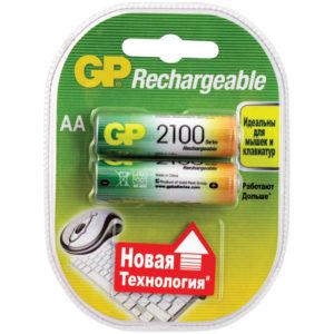 Аккумулятор GP AA (HR06) 2100mAh 2BL