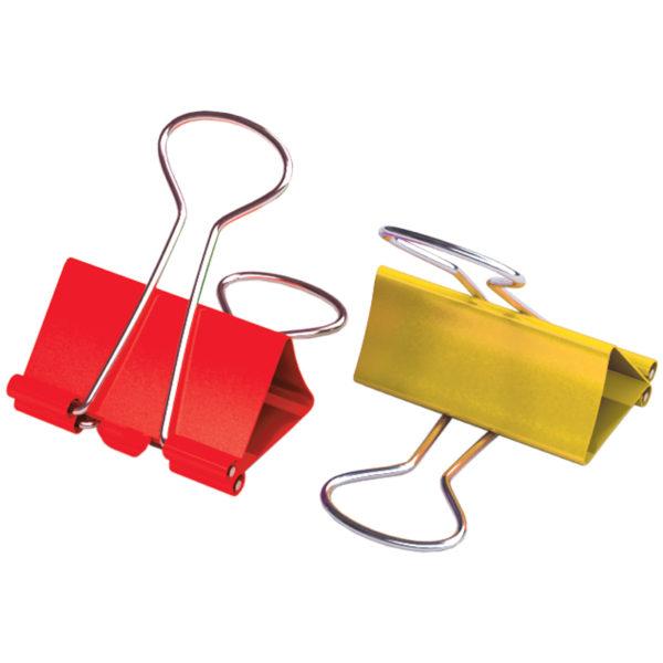 Зажимы для бумаг 32мм, Berlingo, 12шт., цветные, картонная коробка