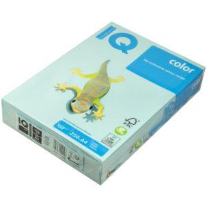 "Бумага IQ ""Color pale"" А4, 160г/м2, 250л. (голубой)"