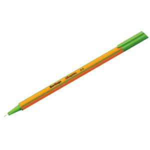 """Ручка капиллярная Berlingo """"Rapido"""" светло-зеленая, 0,4мм, трехгранная"""