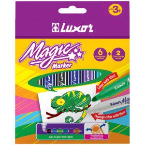 """Фломастеры меняющие цвет Luxor """"Magic"""", 06цв+2, 8шт., картон, европодвес"""