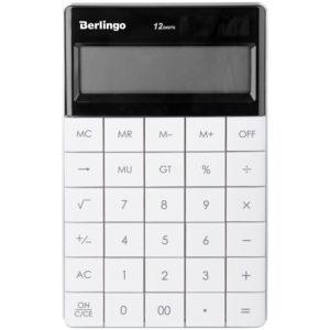 """Калькулятор настольный Berlingo """"PowerTX"""", 12 разр., двойное питание, 165*105*13мм, белый"""