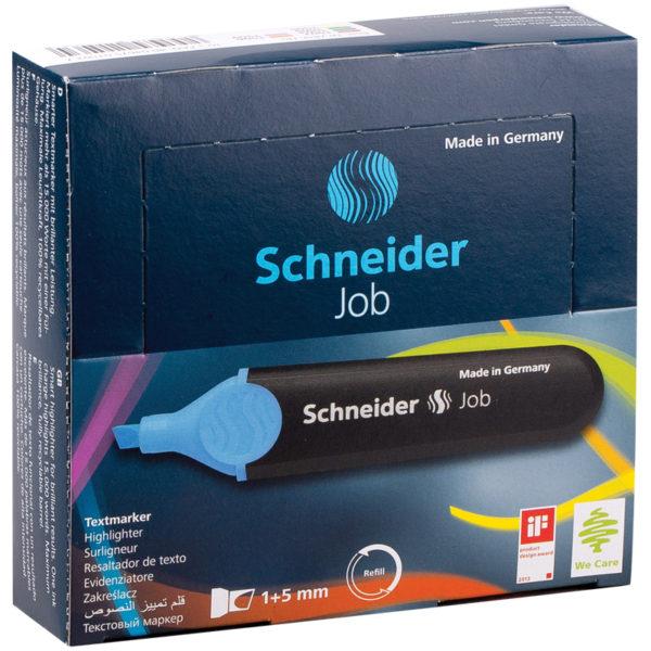 """Текстовыделитель Schneider """"Job"""" голубой, 1-5мм"""