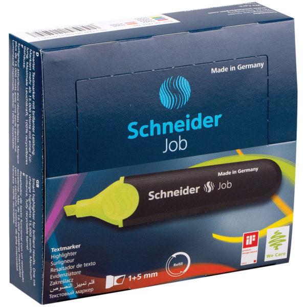 """Текстовыделитель Schneider """"Job"""" желтый, 1-5мм"""