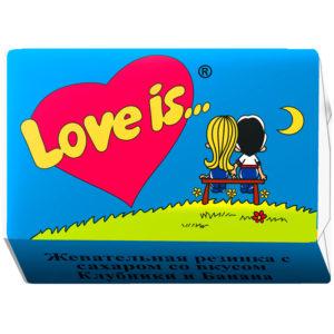 "Жевательная резинка ""Love is..."", банан-клубника"