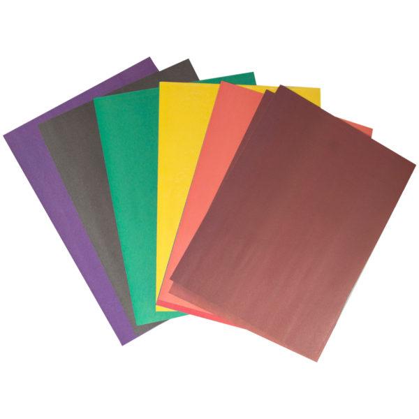 Цветная бумага двусторонняя A4, Мульти-Пульти, 16л., 8цв., в папке
