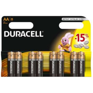 Батарейка Duracell Basic AA (LR06) алкалиновая, 8BL