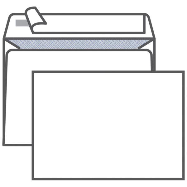 Конверт C5, KurtStrip, 162*229мм, б/подсказа, б/окна, отр. лента, внутр. запечатка