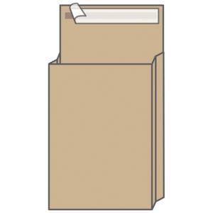 Пакет почтовый UltraPac, 300*400*40мм, коричневый крафт, отр. лента, 120г/м2