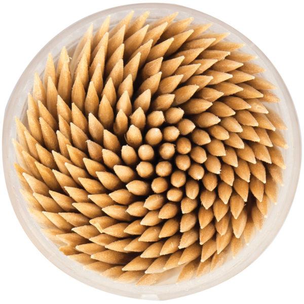 Зубочистки деревянные OfficeClean, 200шт., в баночке