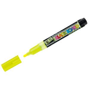 "Маркер меловой MunHwa ""Black Board Marker"" желтый, 3мм, водная основа"