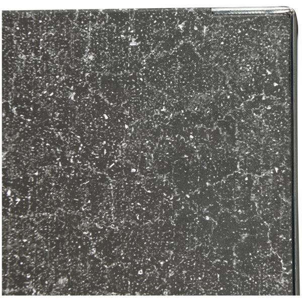Папка-регистратор OfficeSpace 70мм, мрамор, черная, нижний метал. кант