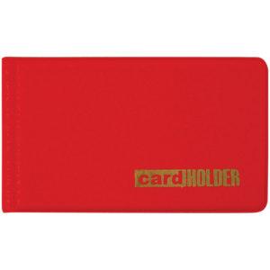 Визитница карманная OfficeSpace на 20 визиток, 65*110мм, ПВХ, красный