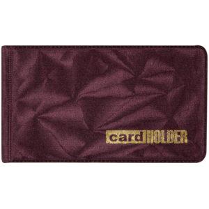 Визитница карманная OfficeSpace на 20 визиток, 65*110мм, ПВХ, бордо