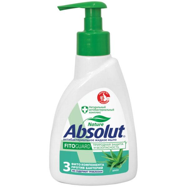 """Мыло жидкое Absolut """"Алоэ"""", антибактериальное, с дозатором, 250мл"""