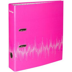 """Папка-регистратор Berlingo """"Neon"""", 70мм, ламинированная, неоновая розовая"""